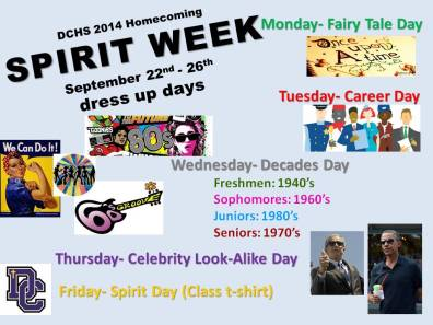 SPIRIT WEEK DAYS 14