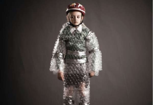 Bubble wrapped kid