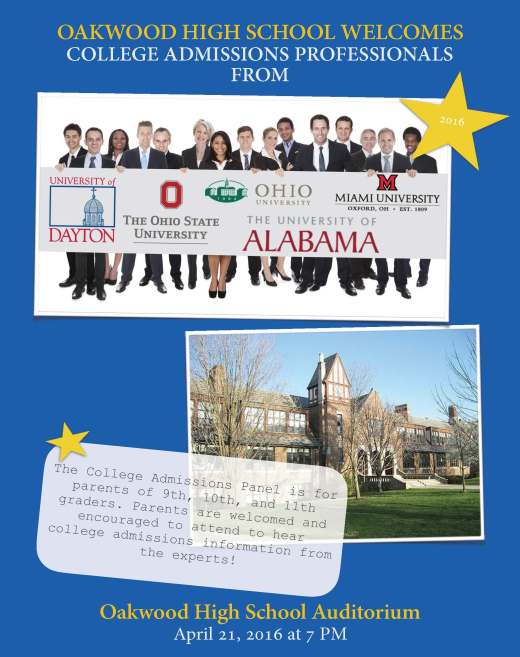 College admissions flyer 4-16