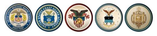 Service Academies seals